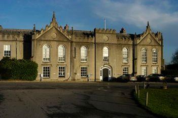 Sandleford Priory (west front), Sandleford, Greenham, Newbury, Berkshire, England