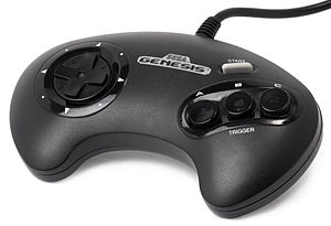English: A Sega Genesis 3 button controller.