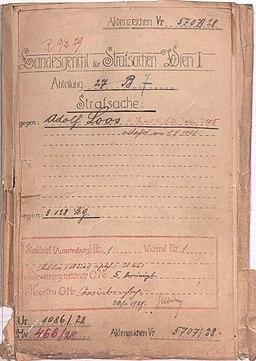 Strafakt Adolf Loos