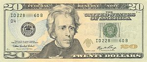 Obverse of the Series 2006 $20 bill