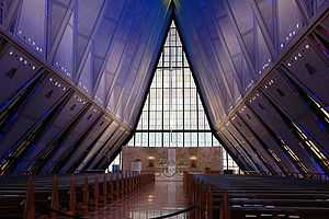The protestant chapel in the Air Force Academy...