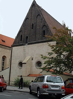 The Old-New Synagogue (Alt-neu Schul) in Pragu...