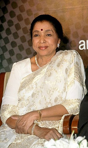 English: Indian singer Asha Bhosle