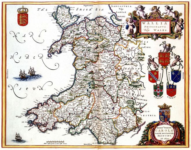 Late Medieval Map of Wales