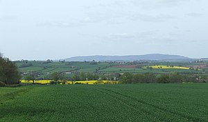 English: Crop Fields, Severn Valley, and Clee ...