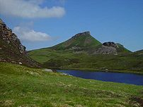 Dun Caan from Loch na Mna on Raasay, Scotland ...