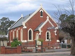 Methodist Church at Euroa, Victoria, now a fun...