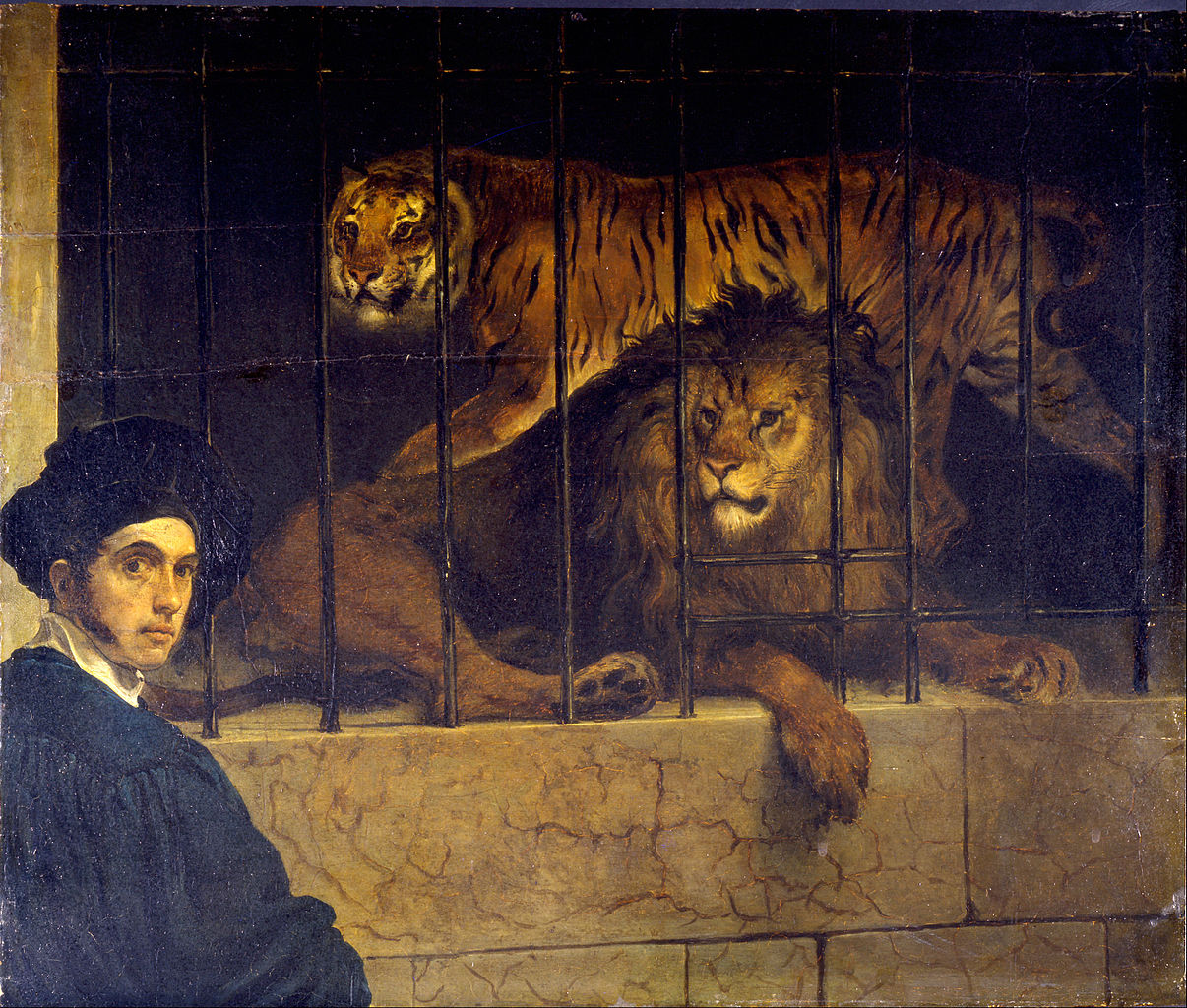 Image result for lion in cage painting