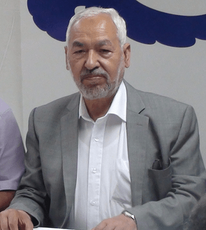 Français : Rached Ghannouchi, président du par...
