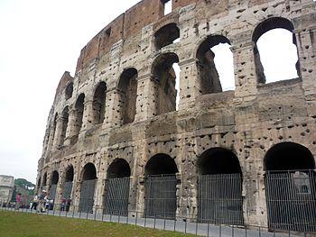 English: Rome, the Coloseum, originally known ...