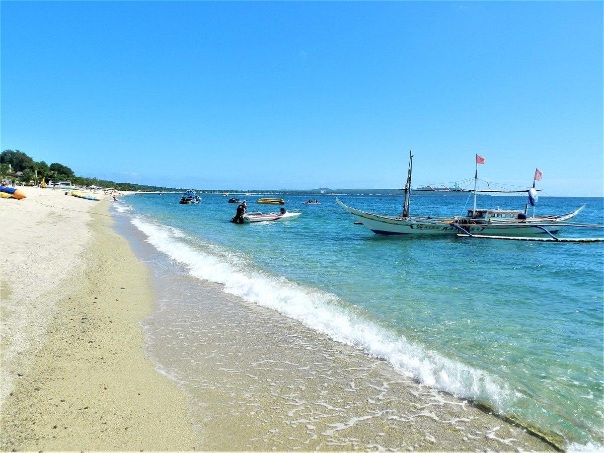 Laiya Beach in front of Les Caraibes Resort, Laiya, Batangas