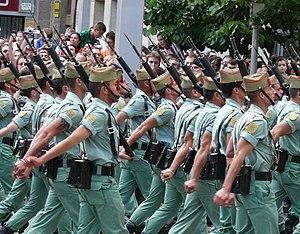 Desfile de las Fuerzas Armadas 2008. La Legión.