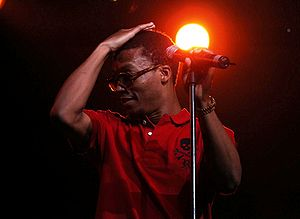 Lupe Fiasco performing in Melbourne, Australia...