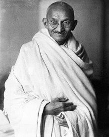 Studio photograph of Mohandas K. Gandhi, London, 1931.