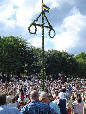 Midsommar i Vaxholm 2008.