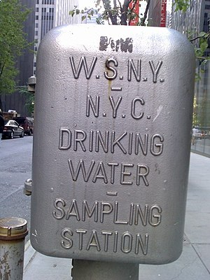 English: New York water sampling station for d...
