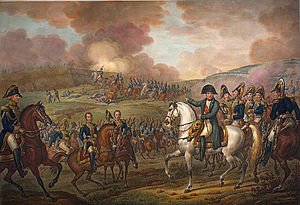 Napoleon in the Battle of Moskowa in 1812. Thr...