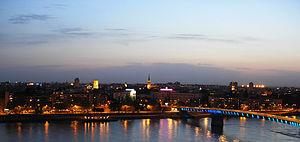 Panoramic view of Novi Sad from Petrovaradin f...