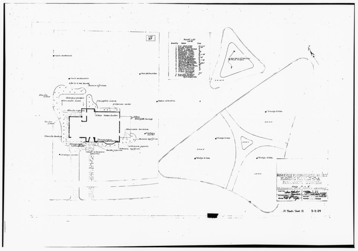 File Photocopy Of Original Landscape Drawing Dated 13