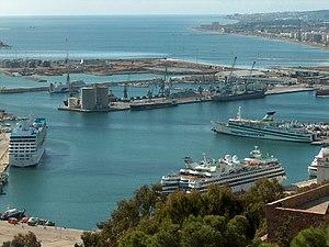 The Port of Málaga.