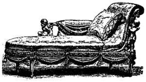 A rococo chaise longue