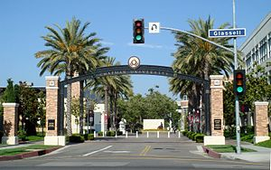 English: Schmid Gate entrance to Chapman Unive...