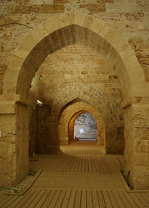 English: Acre, Hospitallers' citadel Deutsch: ...