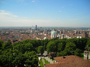 Sight of Brescia from the city castle
