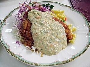Chicken with tartar sauce