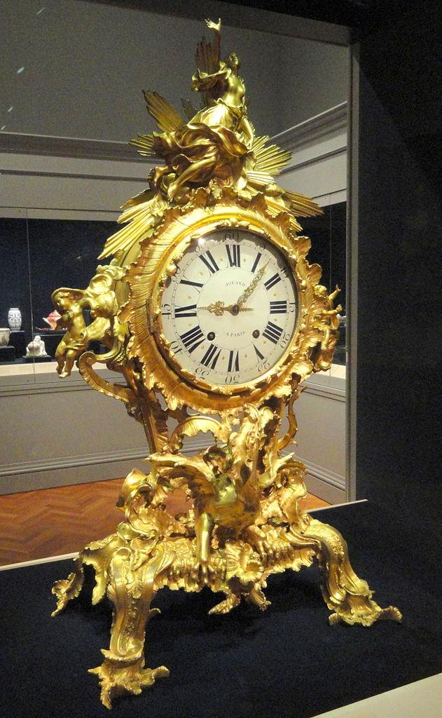 FileClock about 1750 France gilt bronze  Cleveland