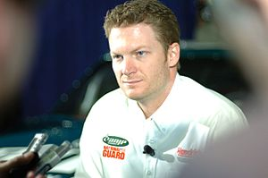 NASCAR auto racer Dale Earnhardt Jr. speaks wi...