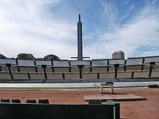 O Estádio Centenário, local da primeira final da Copa do Mundo, em 1930, na cidade de Montevidéu, Uruguai