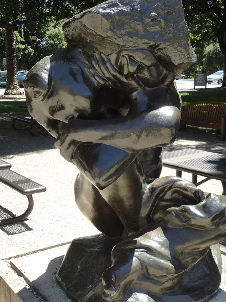 File Fallen Caryatid With Stone Sculpture By Rodin