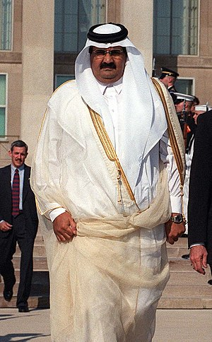 His Highness Sheikh Hamid bin Khalifa Al-Thani...