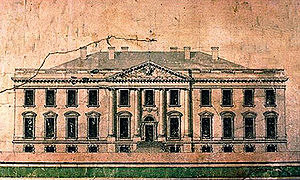 Elevation of the north side of the White House...