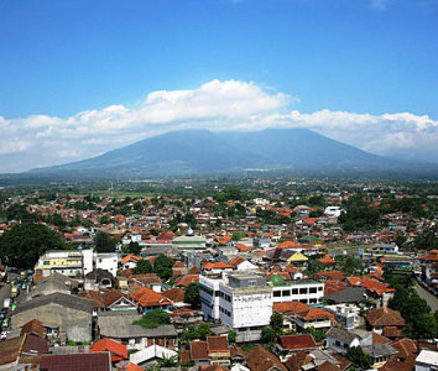 From Central Bogor Looking Towards Mount Gede Pangrango National Park