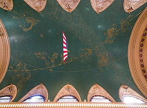 English: The ceiling of the Grand Central Term...