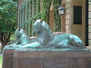 Bronze tiger sculptures by Alexander Phimister...