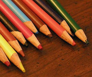 Selection of colored pencils