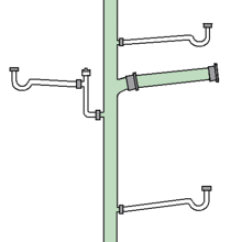 Combination Waste And Vent Diagram Mf 50 Wiring Drain System Wikipedia