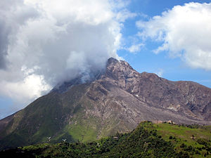 The Soufriere Hills Volcano continues to smoke...