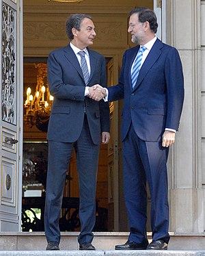 José Luis Rodríguez Zapatero and Mariano Rajoy...