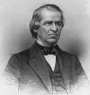 Andrew Johnson thought Hancock was the ideal R...
