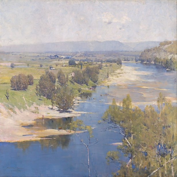 Arthur Streeton - 'The purple noon's transparent might' - Google Art Project