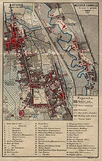 Peta Batavia tahun 1897