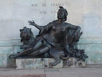 Français : Lyon : allégorie La Saône de Cousto...