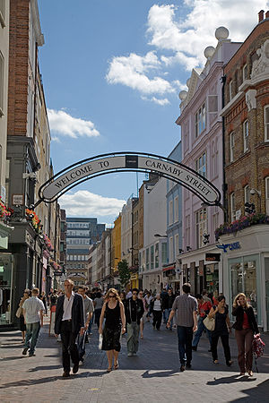 Carnaby Street from Great Marlborough Street, ...