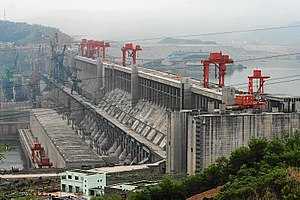 Three Gorges Dam in 2006
