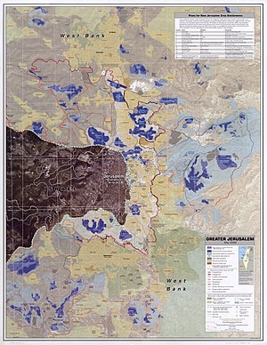 Greater Jerusalem, May 2006. CIA remote sensin...