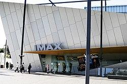 Teatro IMAX en el complejo del museo de Melbourne.